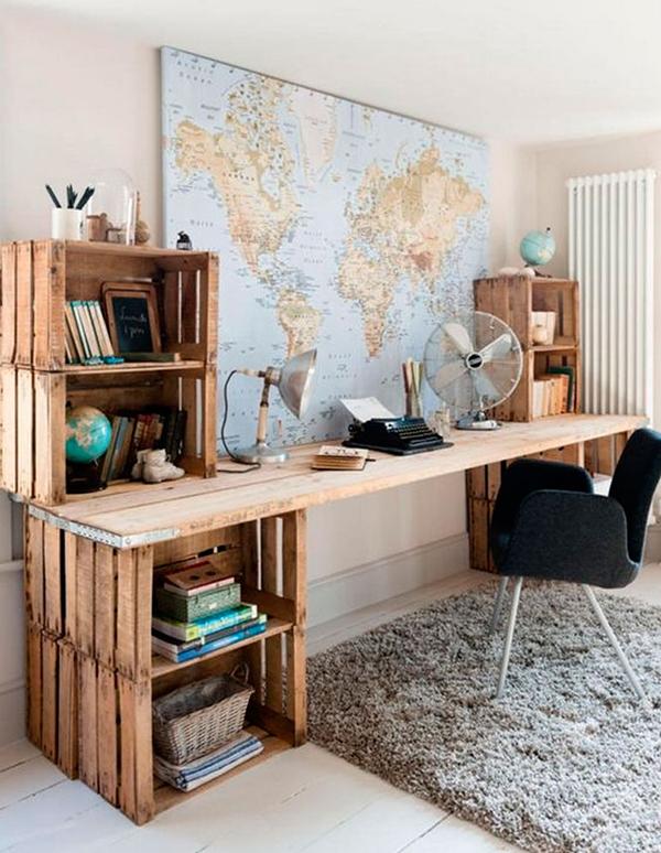 """Ý tưởng tạo """"chất"""" và vun đắp đam mê dịch chuyển. Toàn bộ thiết kế này được làm từ gỗ pallet cũ"""