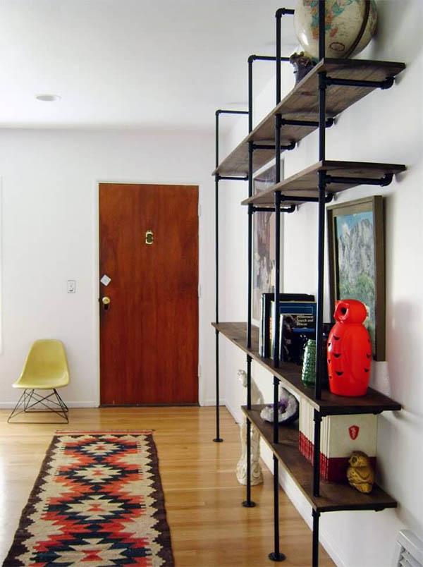 Kệ gỗ pallet đỡ từ sàn đến trần nối dài không gian chiều dọc